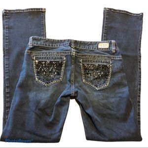 GUESS daredevil bootcut dark wash jeans 28x32